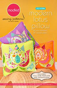 modkid Modern Lotus Pillow Sewing Pattern