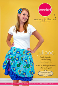 modkid Juliana: Double-Layer Skirt with Drawstring Sewing Pattern