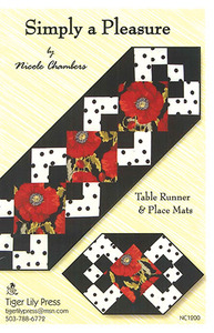 Tiger Lily Press 93-6003 Simply a Pleasure Table Runner, Place Mat Sewing Pattern