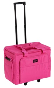 "Creative Notions CNL01 XL Sewing Machine Wheeled Trolley Roller Bag 15x20x10"", Choose Pink, Purple or Black"