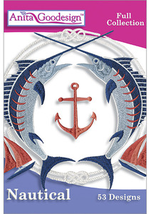 Anita Goodesign 231AGHD Nautical Full Collection Multi-format Embroidery Design CD 53 Designs