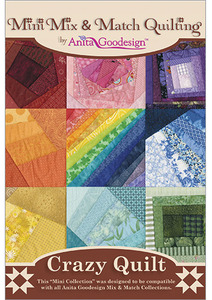 Anita Goodesign 155MAGHD Crazy Quilt Mini Mix & Match Multi-format Embroidery Design CD