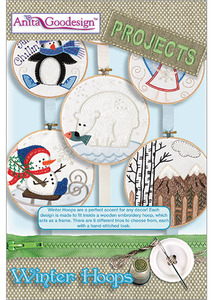 Anita Goodesign PROJ52 Winter Hoops Projects Collection Multi-format Embroidery Design CD