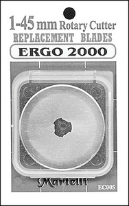 Martelli RB-45-01 45mm Replacement Blades 1 Pack For  Ergo 2000 Rotary Cutter