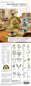Every Stitch Counts  - Jacobean Visions Design CD  Embroidery Design CD