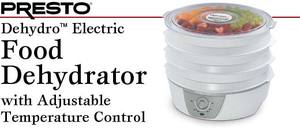 Presto 06302 Dehydro* Electric Food Dehydrator with Adjustable Temperature Controlnohtin