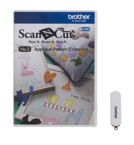 Brother ScanNCut CAUSB2 No.2 Appliqué 50 Pattern Collection USB Stick, for CM100DM Only*