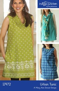 Indygo Junction Urban Tunic Sewing Pattern