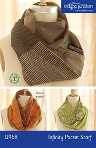 Indygo Junction IJ968 Infinity Pocket Scarf Sewing Pattern