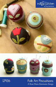 Indygo Junction Folk Art Pincushions Sewing Pattern
