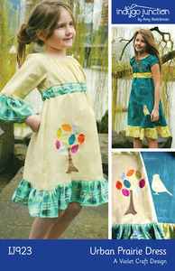 Indygo Junction Urban Prairie Dress Sewing Pattern