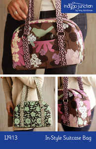 Indygo Junction Instyle Suitcase Bag Designer of the Month Pattern Sewing Patternnohtin
