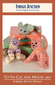 Indygo Junction Yo-Yo Cat and Mouse Sewing Pattern