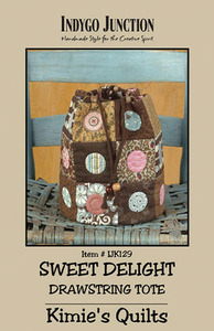 Indygo Junction Sweet Delight: Drawstring Tote Sewing Pattern
