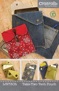 Indygo Junction Crossroads by Amy Barickman:Take-Two Tech Pouch Sewing Pattern