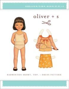 Oliver + S Badminton Skort, Top + Dress (6 m-4) Sewing Pattern