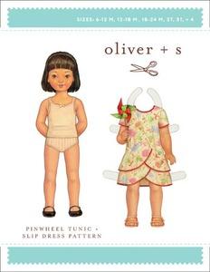 Oliver + S OS039PW1 Pinwheel Tunic & Slip Dress (6m-4) Sewing Pattern