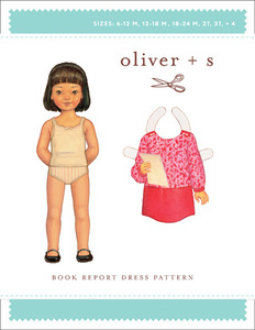 Oliver + S Book Report Dress (6M-4) Sewing Pattern