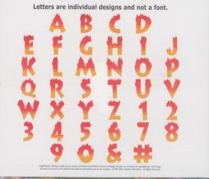 Dakota Collectibles 970045 Fire Alphabet Multi-Formatted CD