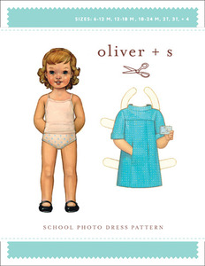 Oliver + S Oliver + S: School Photo Dress  Pattern (6 m-4) Sewing Pattern