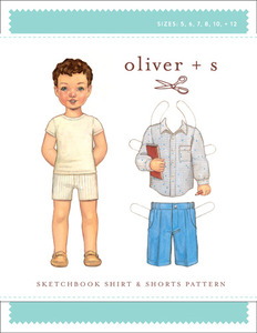 Oliver + S Oliver + S:Sketchbook Shirt+Shorts Pt (5-12) Sewing Pattern