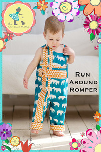 The Cottage Mama Inc. Run Around Romper Sewing Pattern