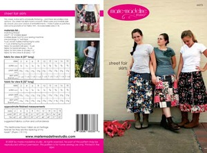 Marie-Madeline Studio M073 Street Fair Skirts Sewing Pattern