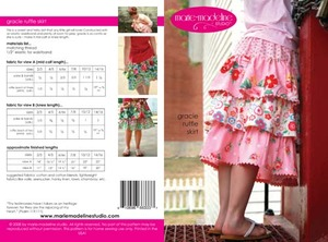 Marie-Madeline Studio M069 Gracie Ruffle Skirt Sewing Pattern