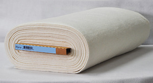 "Legacy by Pellon Natural Cotton with Scrim Roll 96""w 30 yds Roll Batting"