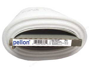 "Pellon Peltex Stabilizer 1-Sided Fusible, 20""x10yd Bolt Interfacing"