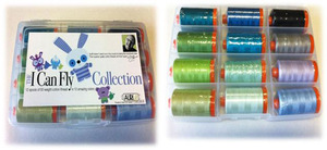 Aurifil BC50ML12 I Can FlyBlue Kit 12 Large 1094Yd Spools 50wt Cotton Thread Kit