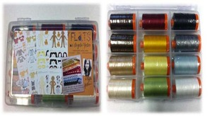 Aurifil Flats AY50FL12 Angela Yosten 12Spool x1432Yds 50wt Cotton Mako Thread Kit