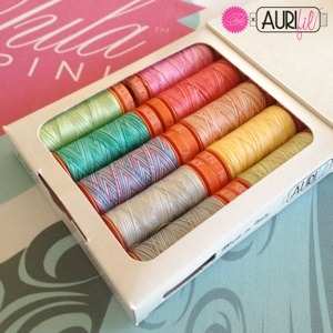 Aurifil Tula Pink Premium Collection 10 Small Spools 50wt Cotton Thread Kit