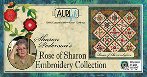 Aurifil Rose of Sharon Embroidery Collection 40wt 12 Spool Thread Kit
