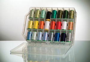Aurifil Valigia, LA12VA48, Thread Kit, 12wt Lana Wool, 48 Colors, x 383Yd Spools