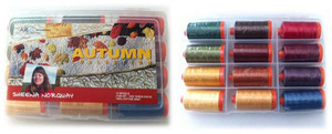 Aurifil SN50AC12 Autumn Collection 12 Large 1094Yd Spool Thread Kit