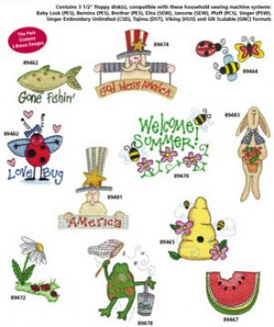 Amazing Designs Great Notions 1259 Country Charm II Multi-Formatted Embroidery CD