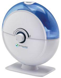 Pure Guardian H1010 14-Hour Ultrasonic Table Top Air Humidifier 18Watt