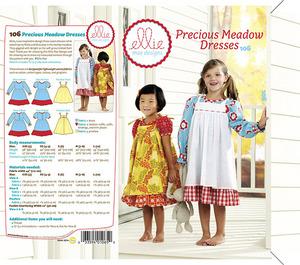 Ellie Mae Designs KW106 Precious Meadow Dresses Sewing Pattern