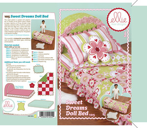Ellie Mae Designs KW105 Sweet Dreams Doll Bed Sewing Pattern