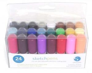 Silhouette Cameo KITPEN  24 Sketch Pens Starter Kit + 10 Designs Card