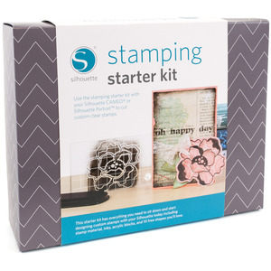 Silhouette Cameo KITSTAMP Stamping Starter Kit, Instruction DVD & Book