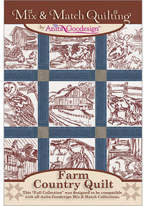 Anita Goodesign 234AGHD Farm Country Quilt Full Quilting Collection CD