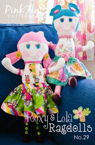 Pink Fig Patterns Roxy & Lola Ragdolls Sewing Pattern
