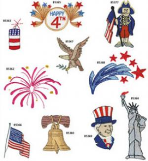 Amazing Designs / Great Notions 1261 Patriotic I Multi-Formatted CD