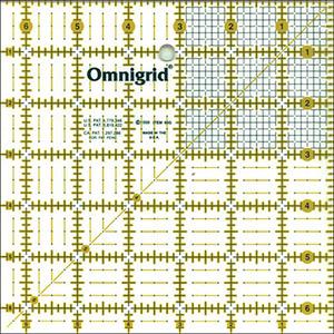 """Omnigrid OG6G Omnigrid 6.5"""" X 6.5"""" Gridded Ruler"""