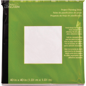 "Dritz Longarm Design Layout Sheet Project Planning Sheet 40"" x 40"" - Pack of 3"