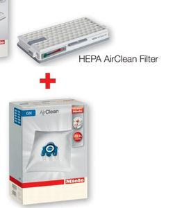 Miele Air Clean Hepa Filter +4 GN Dust Bags Value Pack Bundle Save $12