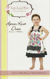 Little Lizard King Apron Knot Dress Sizes 6m-12 + Doll Pattern
