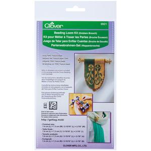 EMBLEM BRC-BEADING LOOM KIT, Clover 9921 Beading Loom Kit Emblem Brooch